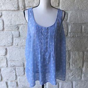 Torrid light blue floral blouse / Size 1